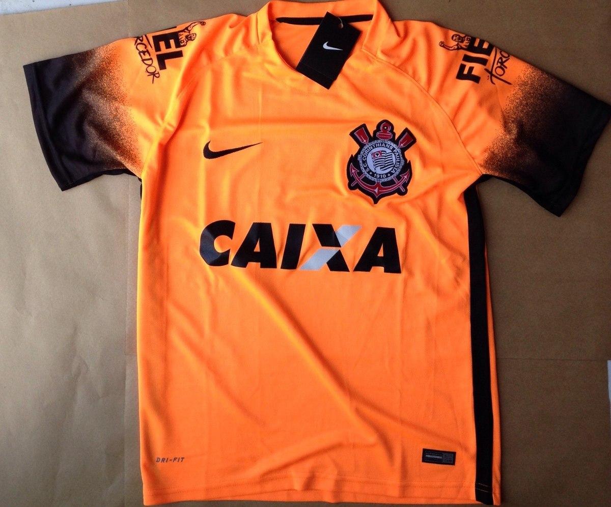 camiseta camisa time corinthians laranja lançamento 2015. Carregando zoom. 3ed0204bbee8a