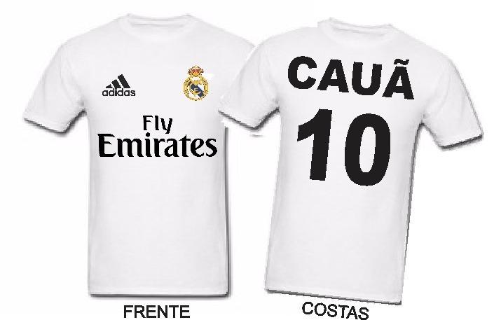 Camiseta Camisa Time Real Madrid Personalizada Com Nome - R  34 31a91ac59f998