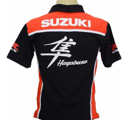 camiseta camisas esportiva gola polo moto suzuki gsx haybusa