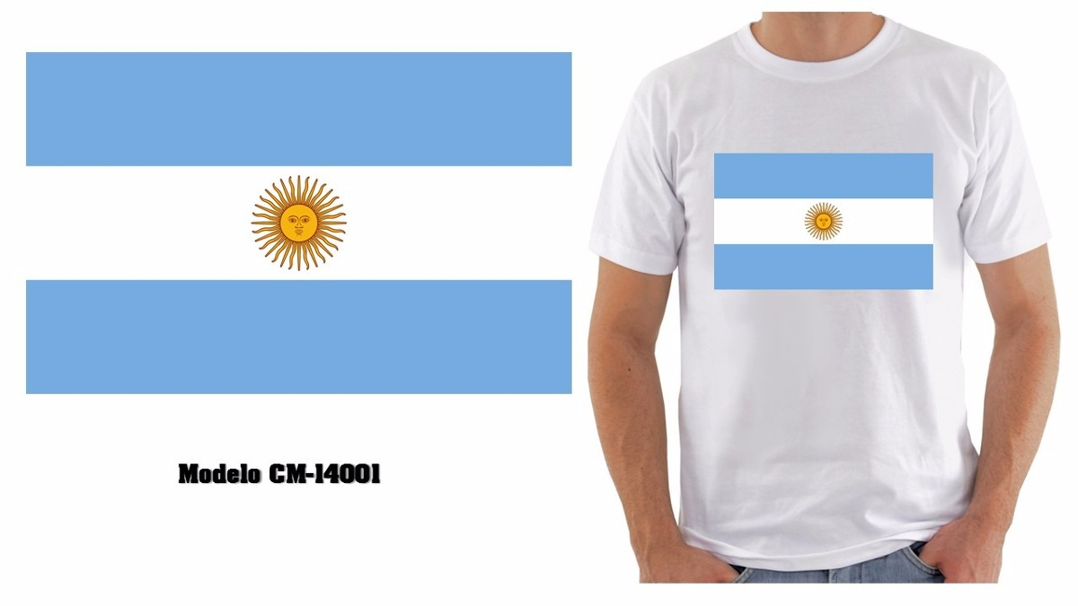 Camiseta Camisetas Personalizada Bandeira Argentina Pais