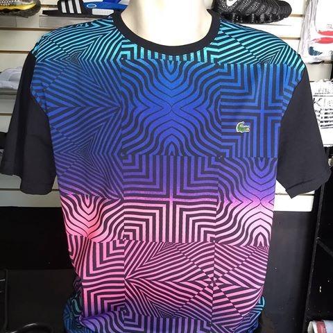 867ec9ea48c Camiseta Camista Lacoste 3d Arco Iris Masculina Lançamento - R  105 ...