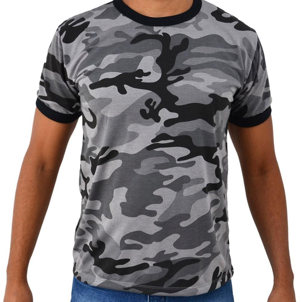 camiseta camuflada cinza masculina exército mercado livre. Carregando zoom. dceb5aab2fd70