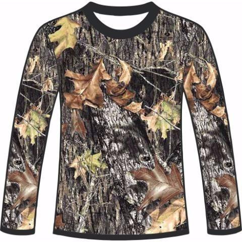 camiseta camuflada manga longa caçadores brs- 2