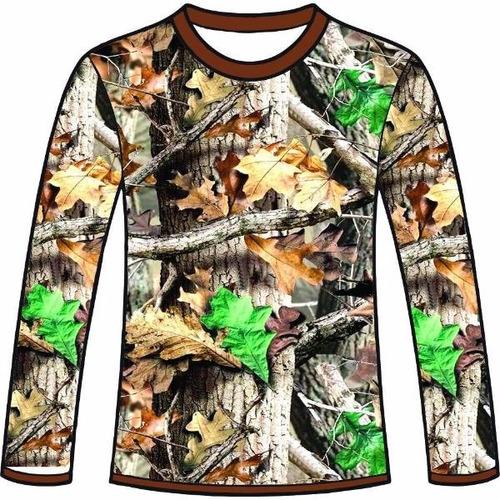 camiseta camuflada manga longa caçadores brs- 3