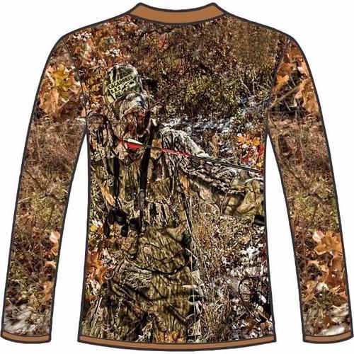 camiseta camuflada manga longa caçadores brs- 4