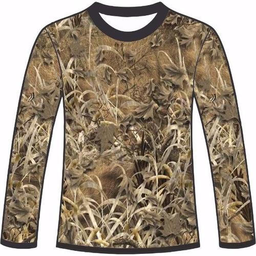 camiseta camuflada manga longa caçadores brs- 6