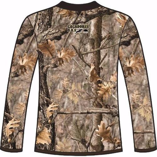 camiseta camuflada manga longa caçadores brs- 7