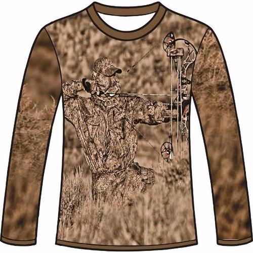 camiseta camuflada manga longa caçadores brs- 9