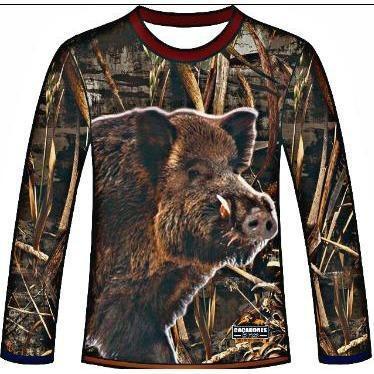 camiseta camuflada manga longa caçadores brs - javali 1