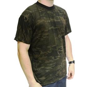 Camiseta Camuflada Multicam Black Manga Curta