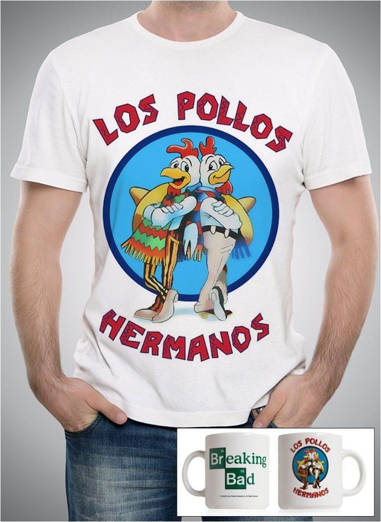3629b2c6a camiseta + caneca los pollos hermanos breaking bad. Carregando zoom.