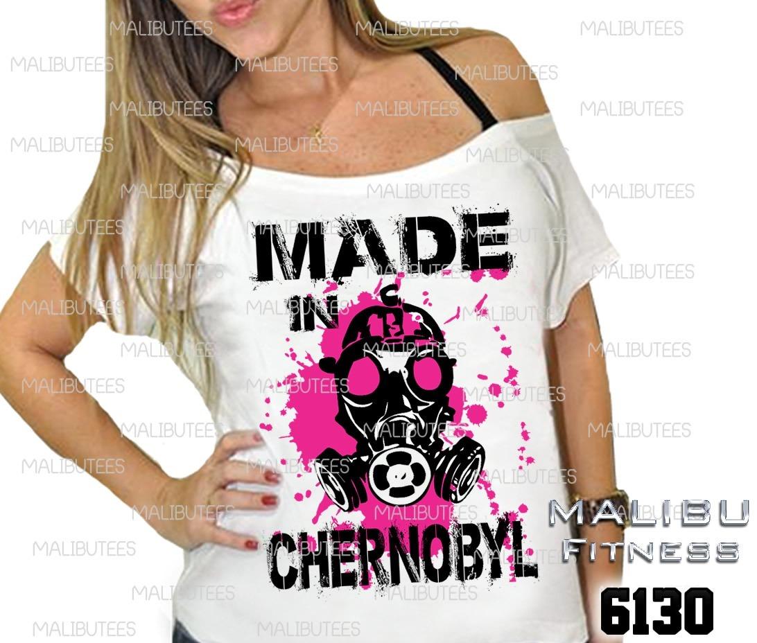 ffdeccaf15 Camiseta Canoa Feminina Made In Chernobyl Academia Ref6130 - R  29 ...