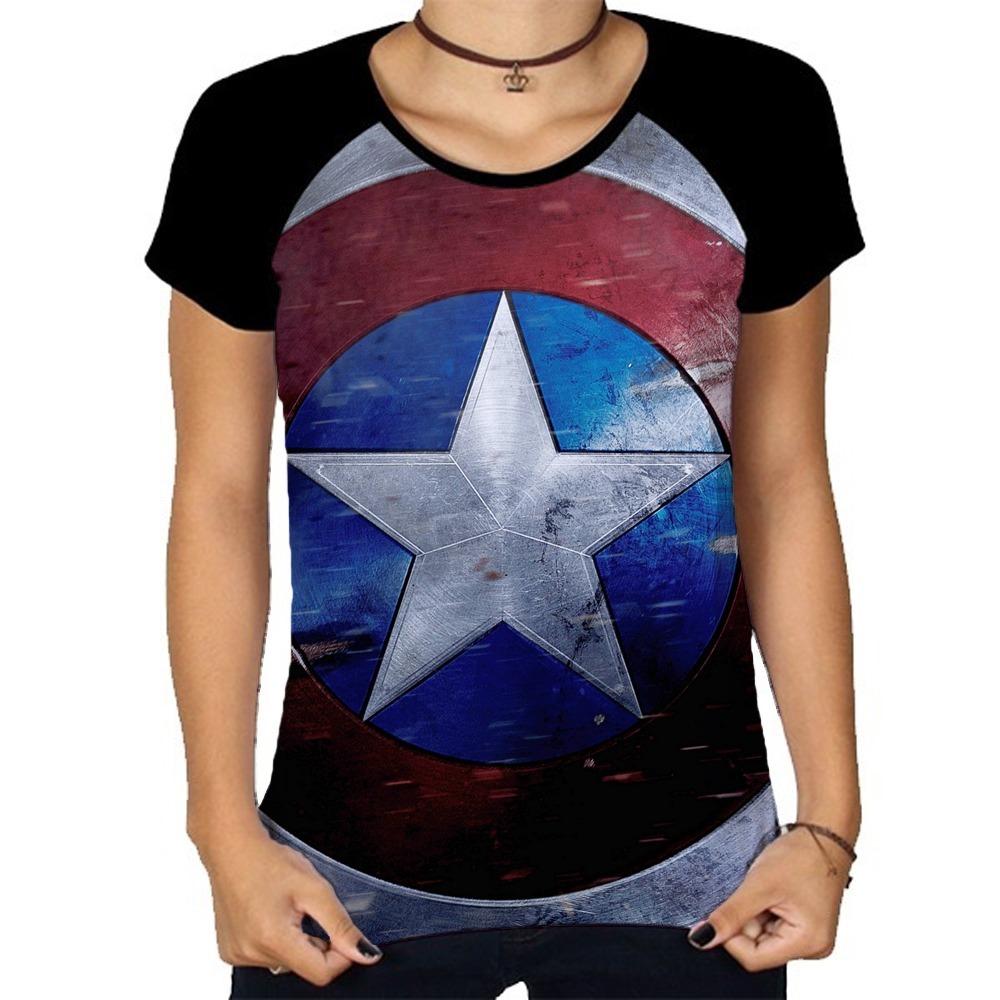 98d4242aa camiseta capitão américa escudo voador blusa raglan feminina. Carregando  zoom.