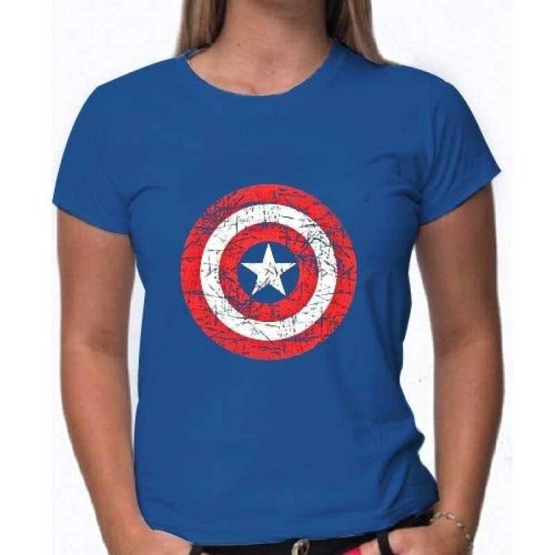 8bfc5a7ba camiseta capitão américa feminina. Carregando zoom.