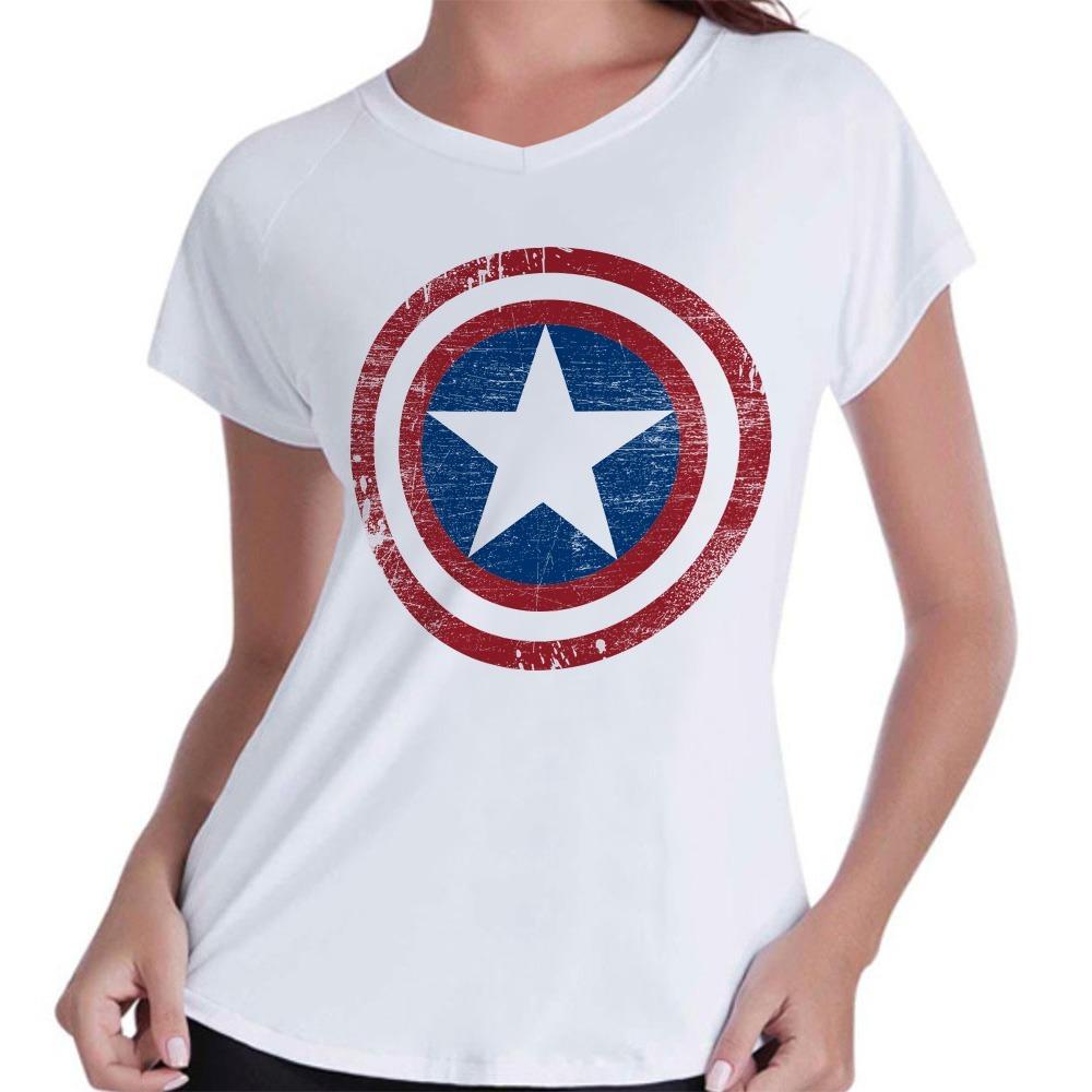 4eab0954c camiseta capitão américa feminina baby look marvel séries. Carregando zoom.