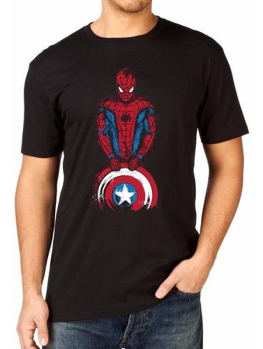 camiseta capitão américa guerra civil homem aranha underoos