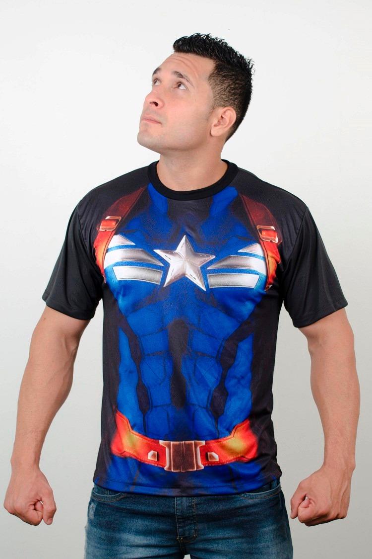 3d14cc1287 camiseta capitão américa marvel super herois uniforme. Carregando zoom.