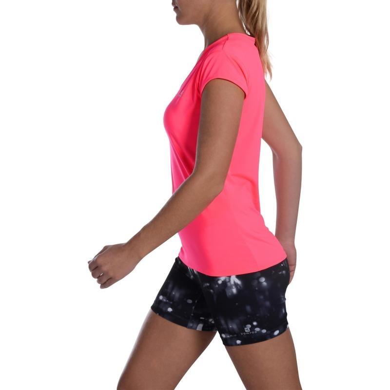 camiseta cardio fitness mujer rosa fluo 100 domyos. Cargando zoom. d33f31fe4218