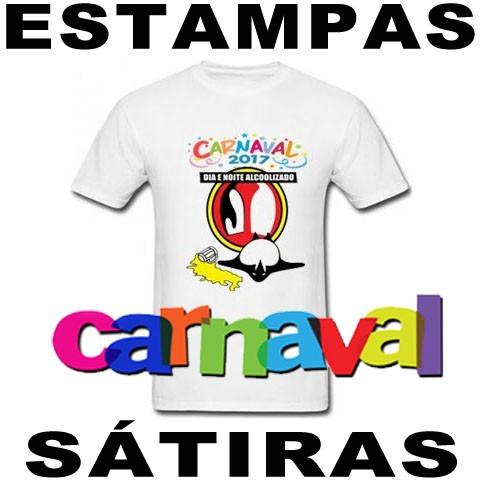 Camiseta Carnaval Estampas Sátira Vetores - R  19 bd8e51140f26a