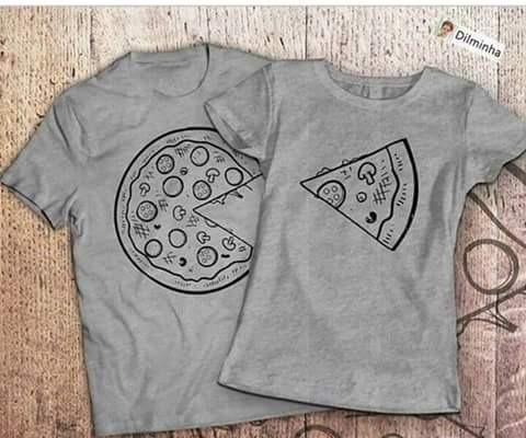 8e9190327 Camiseta Casal Pizza Love - R  60