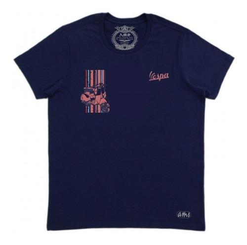 camiseta casual masculina the vespa moto retrô lambreta