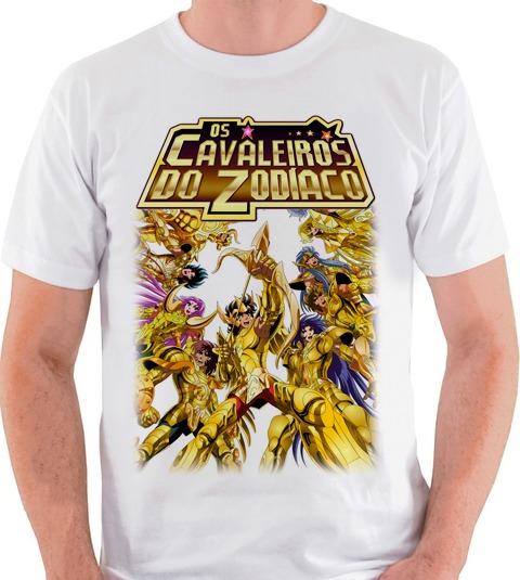 9a63b982c Camiseta Cavaleiros Do Zodíaco Cdz Saint Seiya Blusa Camisa - R  35 ...
