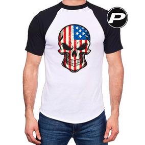 9321c360d7 Camiseta Eua Caveiras - Camisetas e Blusas no Mercado Livre Brasil
