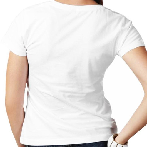 camiseta caveira óculos branca feminina