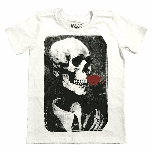 513d88875 Camiseta Caveira Rosa Vermelha T-shirt Infantil - R  69