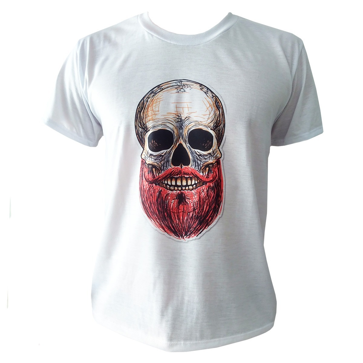d54db9081 camiseta caveira skull masculina vintage camisa branca. Carregando zoom.