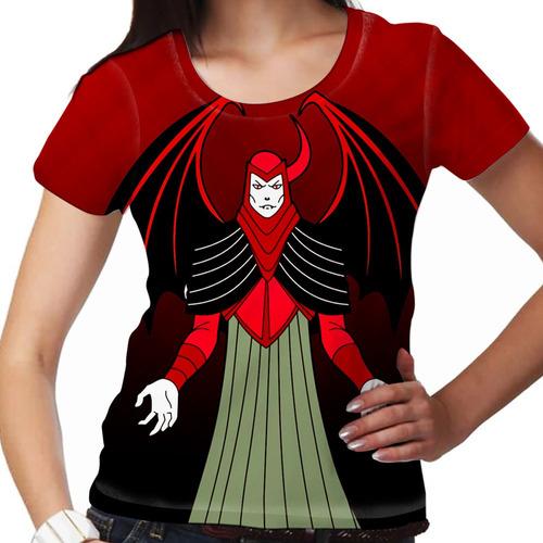 camiseta caverna do dragão vingador feminina