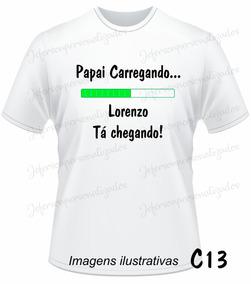 2dea95ed3a Kit Camiseta Personalizada Cha De Bebe no Mercado Livre Brasil