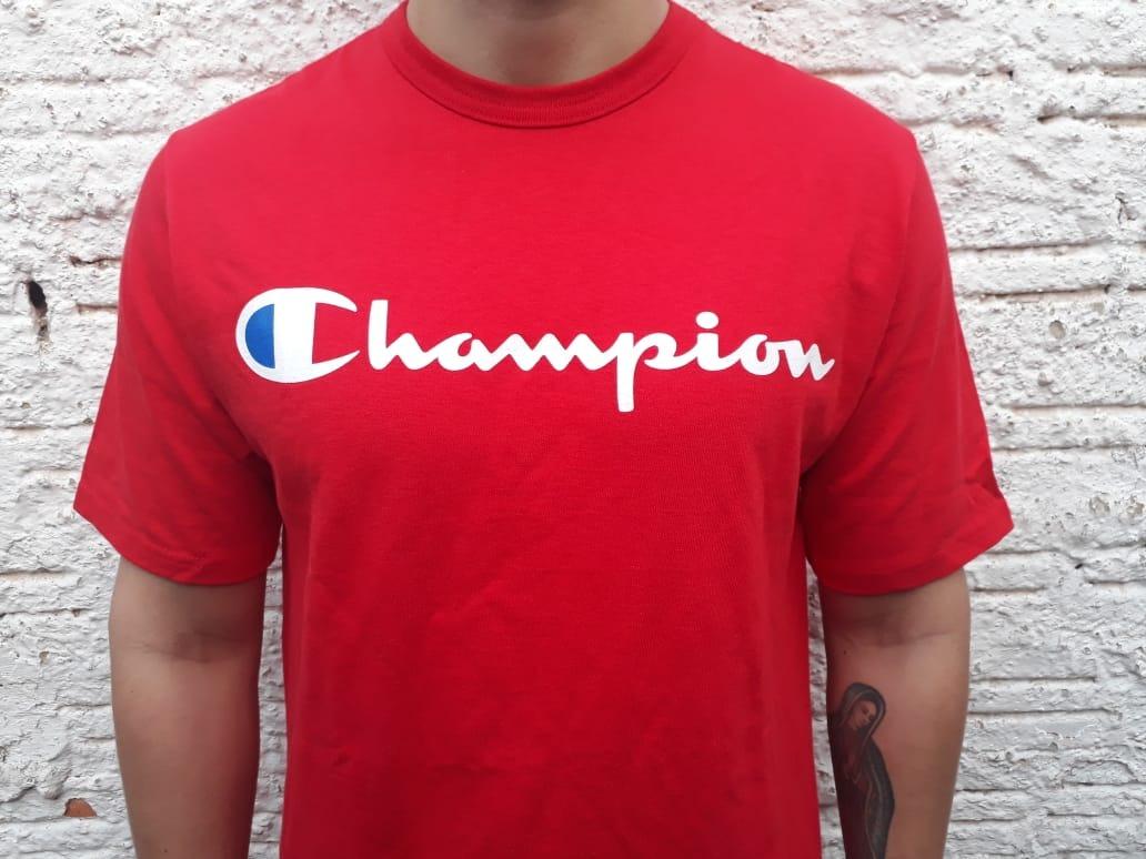 8734729913 camiseta champion script importado eua vermelho original. Carregando zoom.