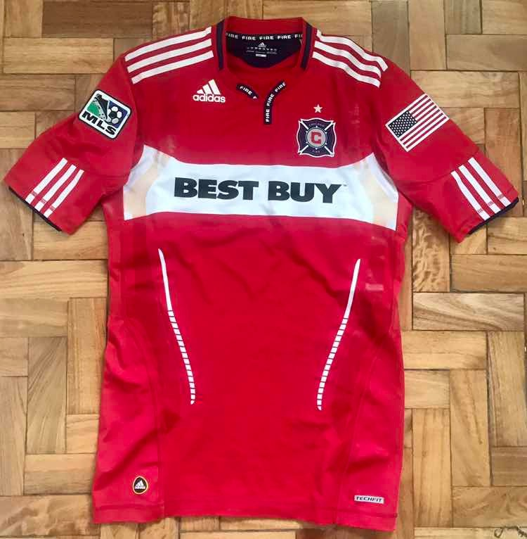 Camiseta Chicago Fire adidas Techfit Mls