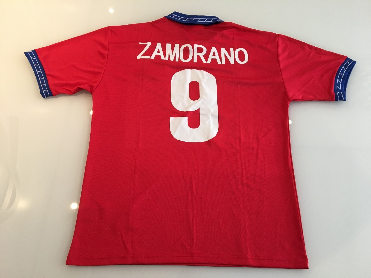 9ec719d1a8eb2 camiseta chile -  9 zamorano - copa do mundo 98 - original. Carregando zoom.