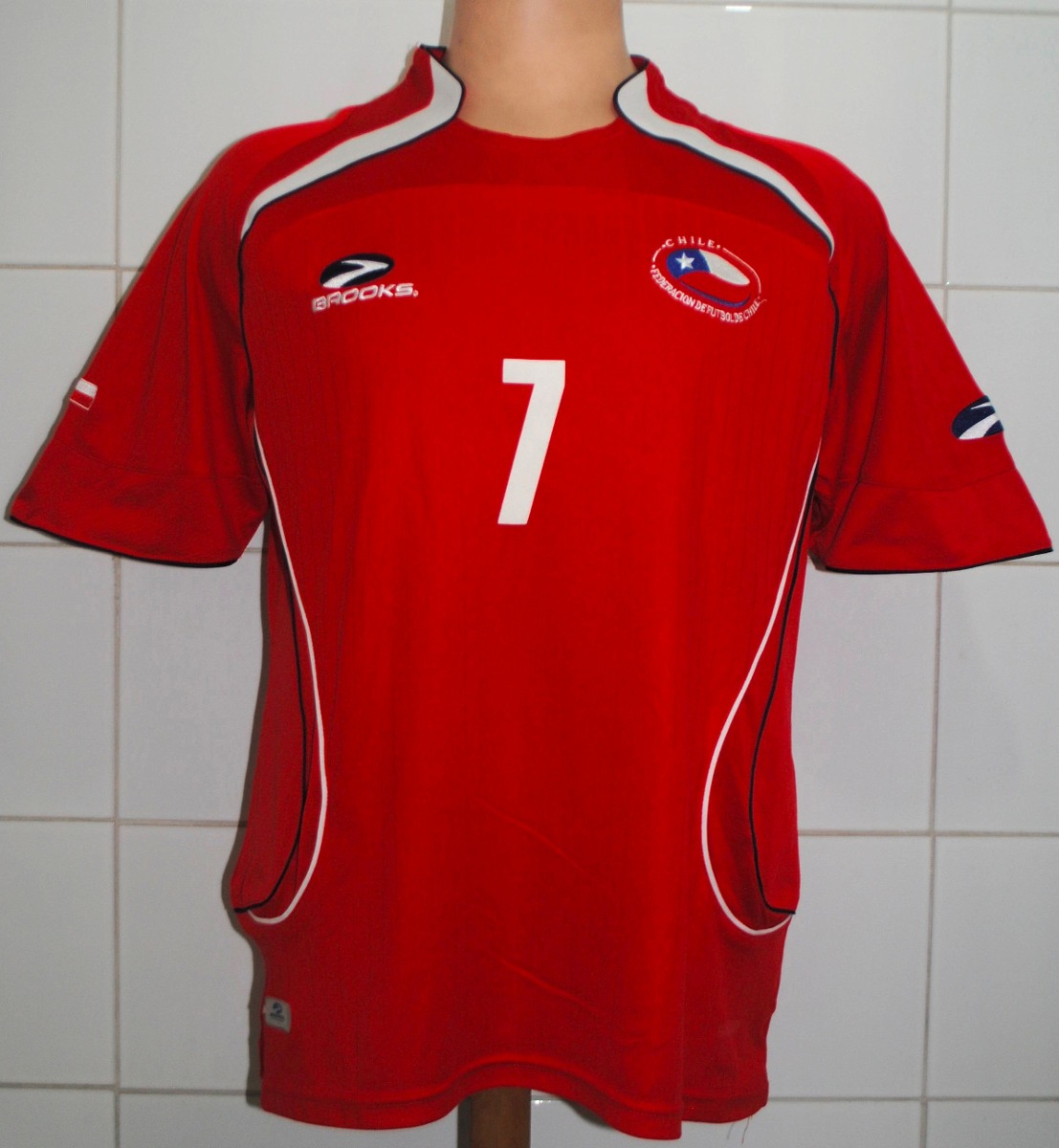 Camiseta Chile Brooks Talla M, #7 Sanchez