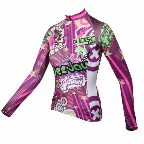 camiseta ciclismo dama disco