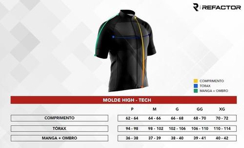 camiseta ciclismo refactor 3xu toro manga curta masculina uv