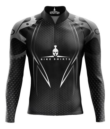 camiseta ciclista spartan-manga longa-dryfit ref 08 uv 50+