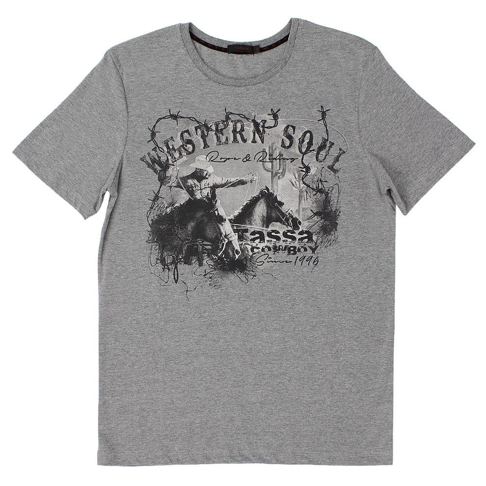 camiseta cinza mescla masculina estampada tassa 21381. Carregando zoom. 23f8d915cb965