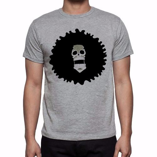camiseta cinza mescla one piece brook o sussurante soul king