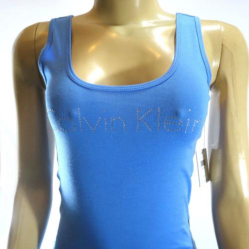 camiseta ck original feminina azul pp