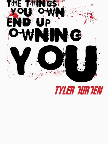 Camiseta Clube Da Luta Tyler Durden Frases Fight Club