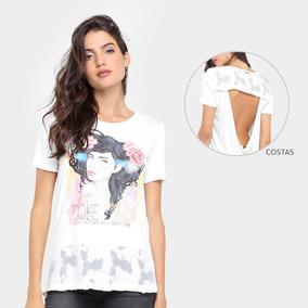 a8f1067294 Camiseta Coca-cola Barra Devorê Recorte Costas Feminina