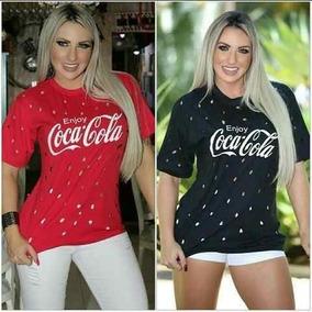 2b4420e89a Camiseta Furadinha Coca Cola no Mercado Livre Brasil