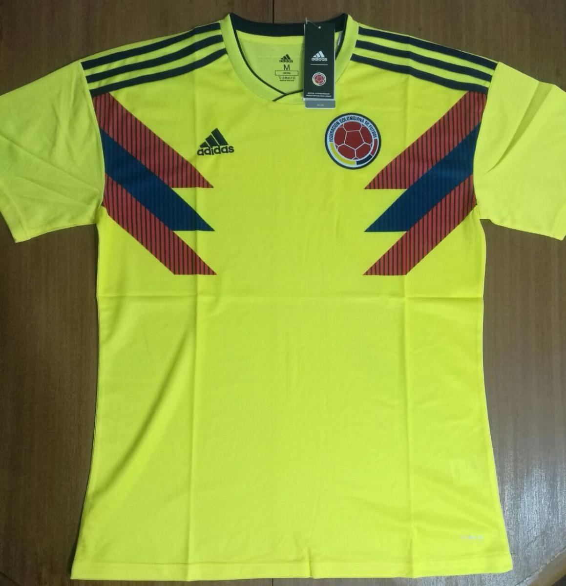 camiseta colombia mundial 2018 100% original envíos adidas. Cargando zoom. ef75669e8e4c5