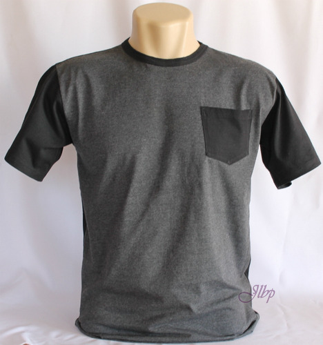 camiseta com bolso em malha pa.