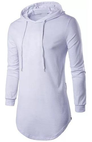 camiseta com capuz manga longa oversized stecchi lançamento
