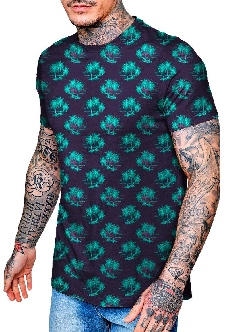 d5f25a68d Camiseta Com Estampa Flores Tropical - Moda - R  54