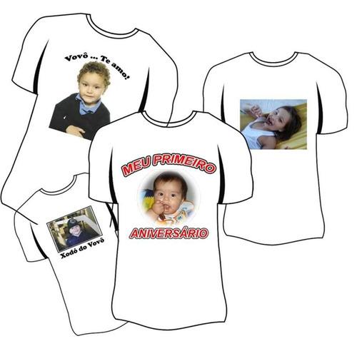 camiseta com sua foto/marca ou logo.